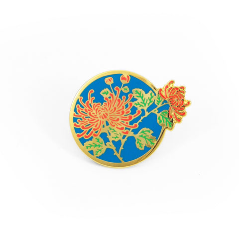 Gold Chrysanthemum Pin