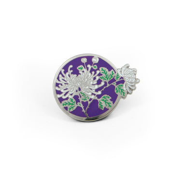 Silver Chrysanthemum Pin - Tough Times