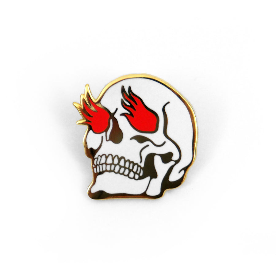 Burning Skull Pin - Tough Times