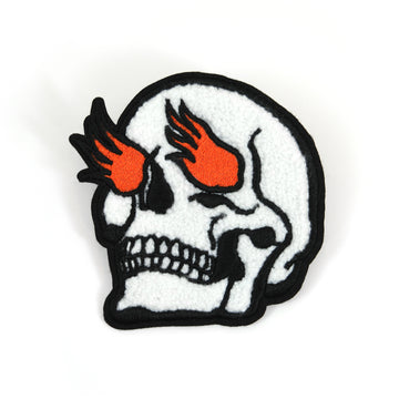 Burning Skull Chenille Patch