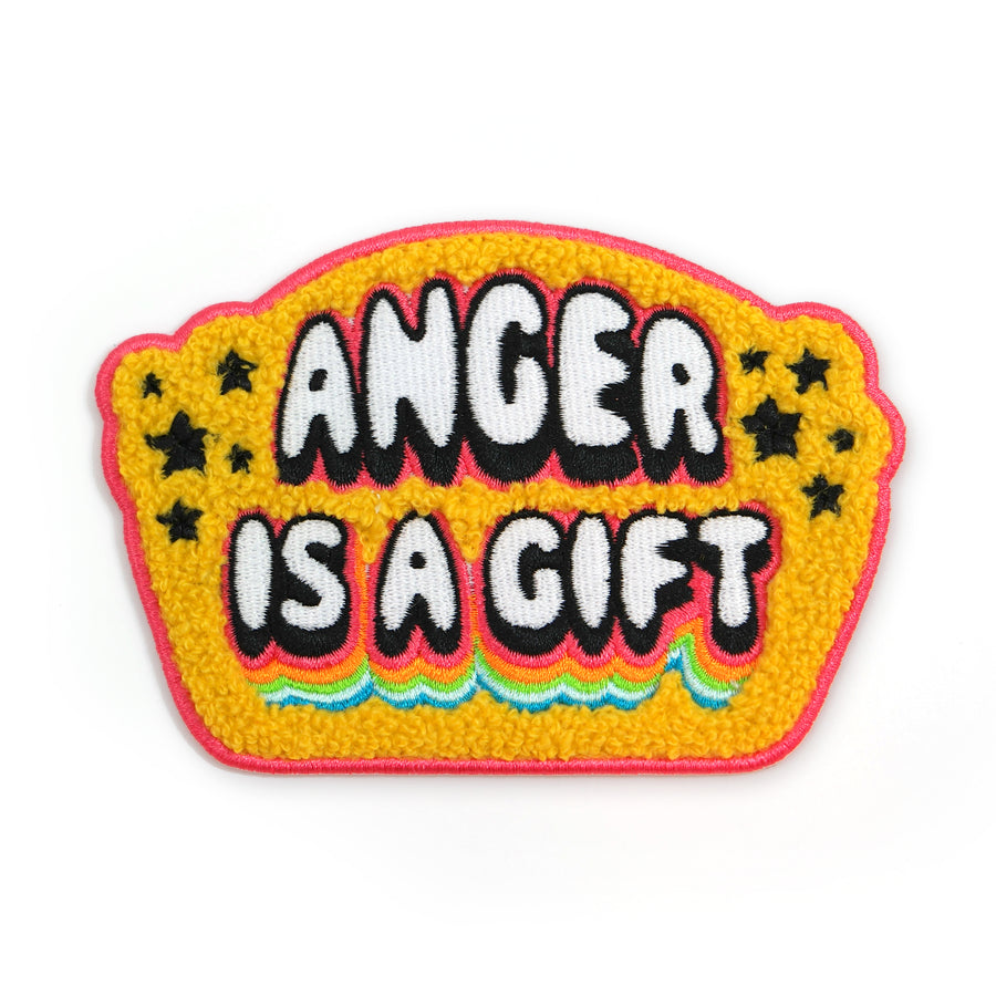 Anger is a Gift Chenille Patch