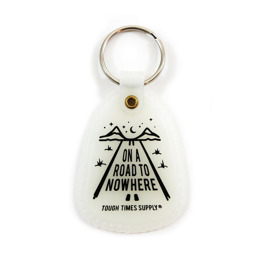 Glow-in-the-Dark Road to Nowhere Saddle Keychain - Tough Times