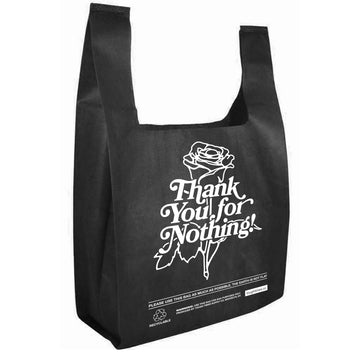 Thank You Grocery Tote Black - Tough Times