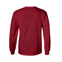 YOU ARE NOT ALONE RED L/S T-SHIRT