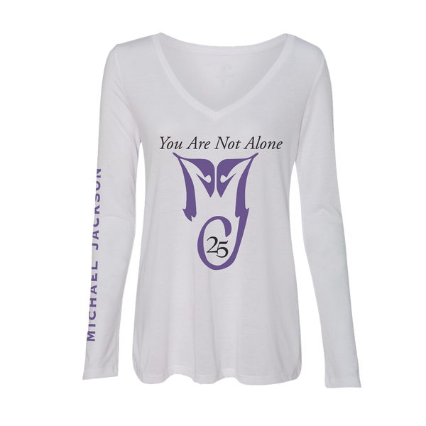 YOU ARE NOT ALONE WOMENS WHITE L/S T-SHIRT