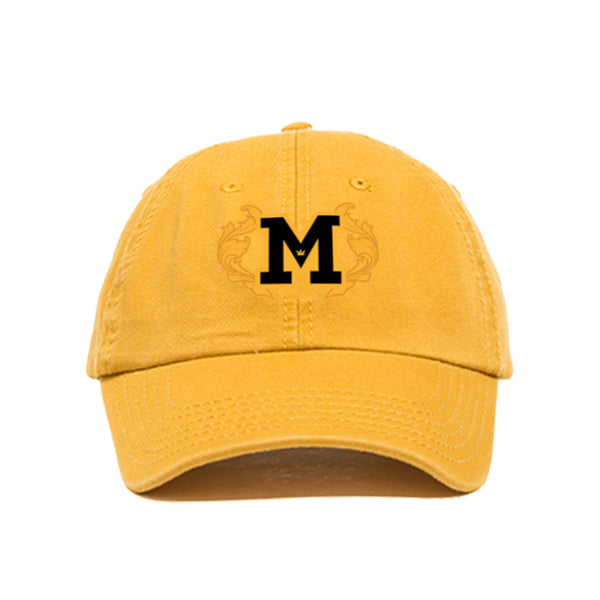 EMBROIDERED M ADJUSTABLE DAD HAT