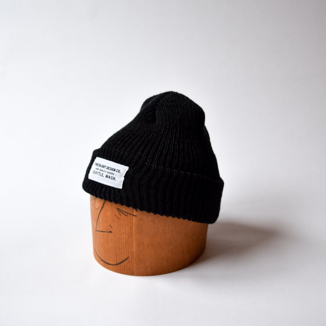 Knit Beanie In Black