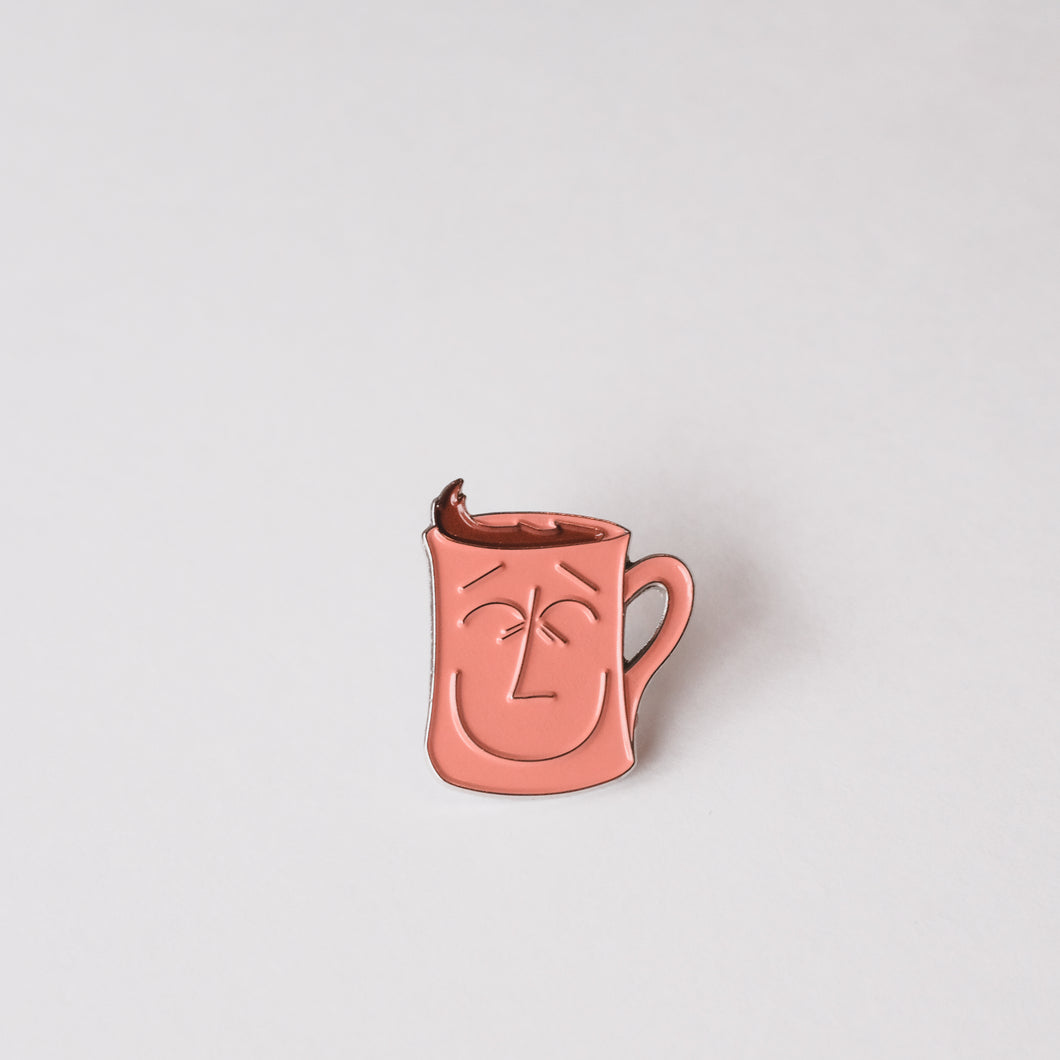 Handsome Mug Enamel Pin
