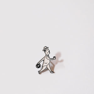 Porchlight Dandy Man Pin
