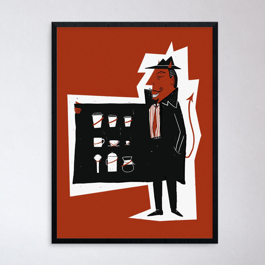 Coffee Salesman Print