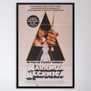 "Vintage 1970s ""A Clockwork Orange"" Spanish Poster"