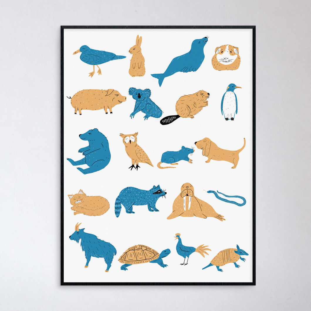 Happy Animals Print