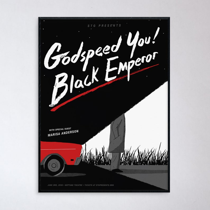 Godspeed You Black Emperor Seattle Show Poster