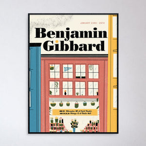 Ben Gibbard Midwest Show Poster