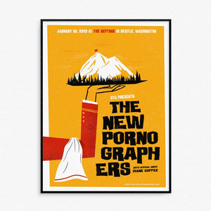 New Pornographers Seattle Show Poster