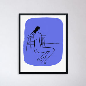 Nude On Blue Print