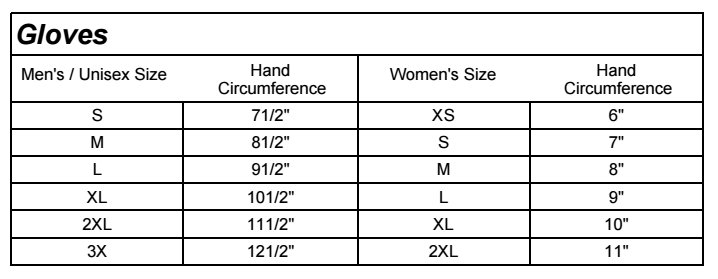 Size Chart - Shop Big Sky Harley