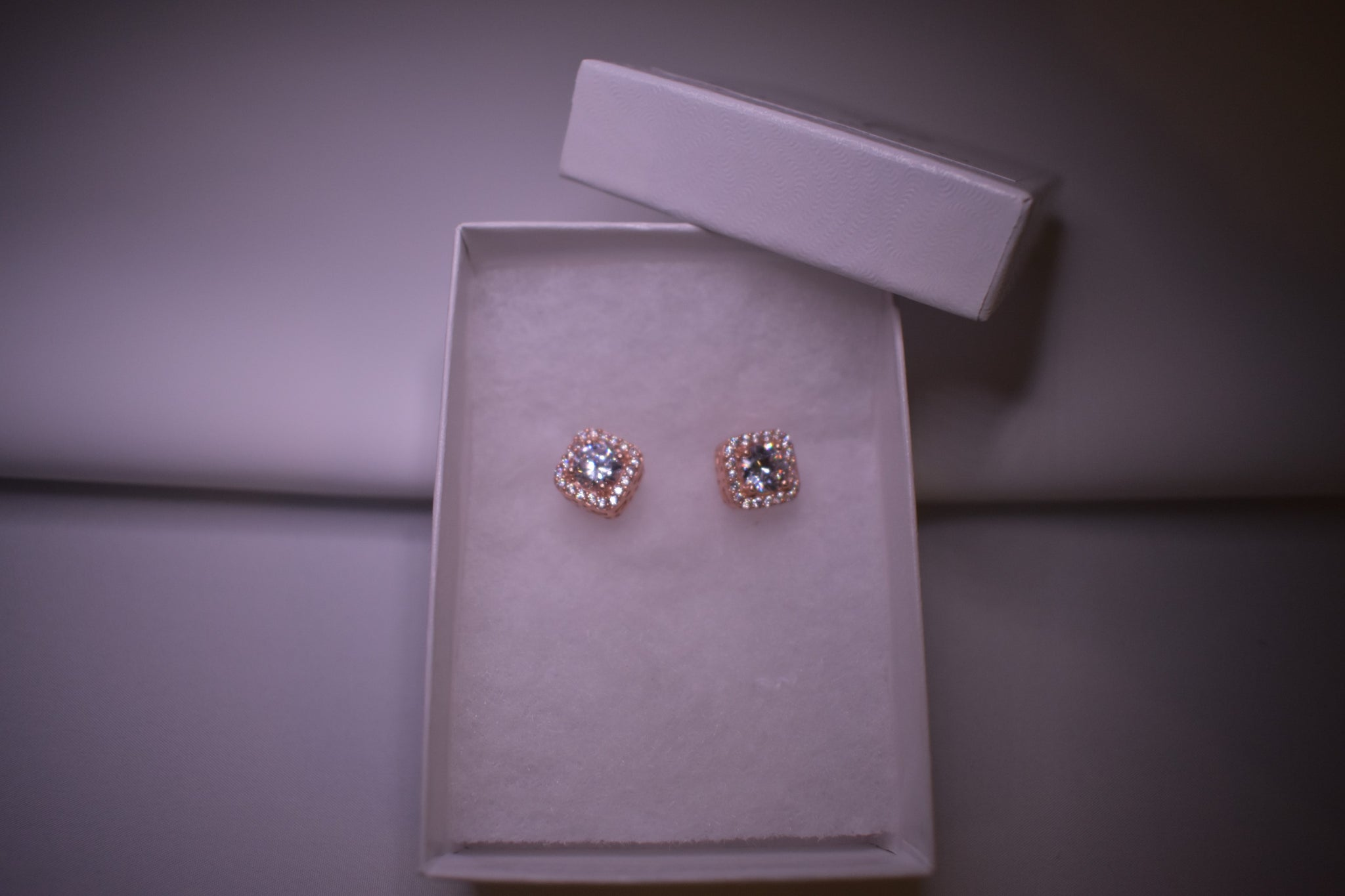 Handmade Big Stud Sterling Silver Rose Gold Earring