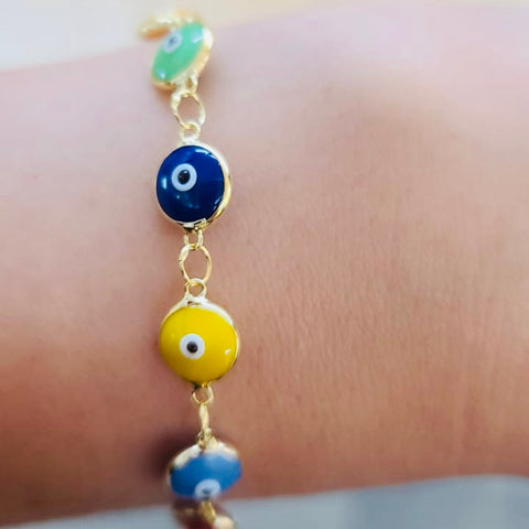 Multicolor Evil Eye Bracelet Colorful