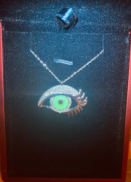 Customized 14K Gold Eye Necklace