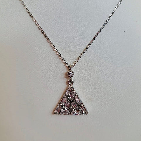 Triangle shape Crystal Stones Circle Necklace