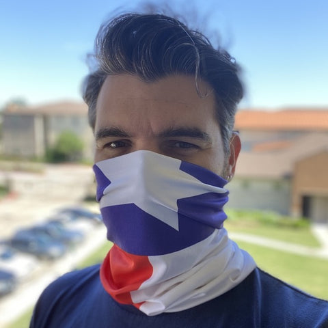 Texas Flag FACE MASK Balaclava Motorcycle Helmet Neck Bandana Scarf Headband for Bike Bicycle Hunting Sport Outdoor