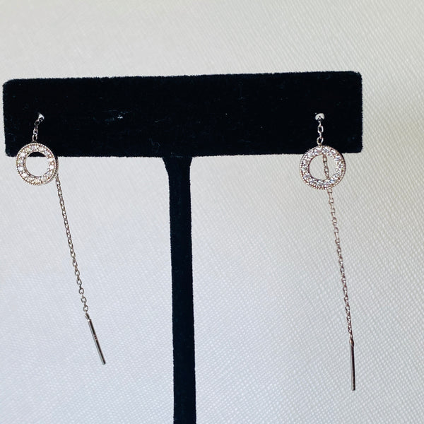Long Circle Earrings