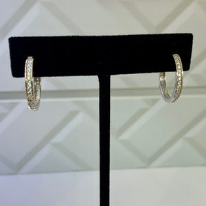 Medium Sterling Silver Hoops Earrings