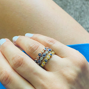 Multiple Evil Eye Ring