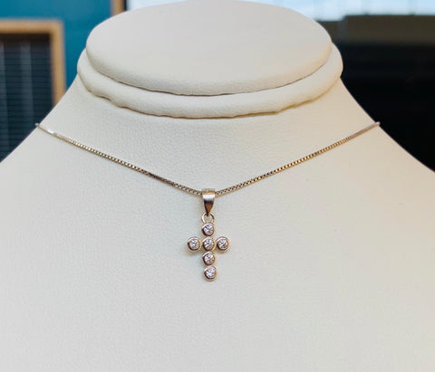 Mini Shiny Cross Necklace