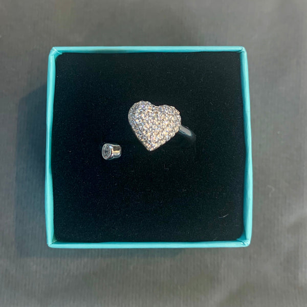 Crystal Heart Shape Ring