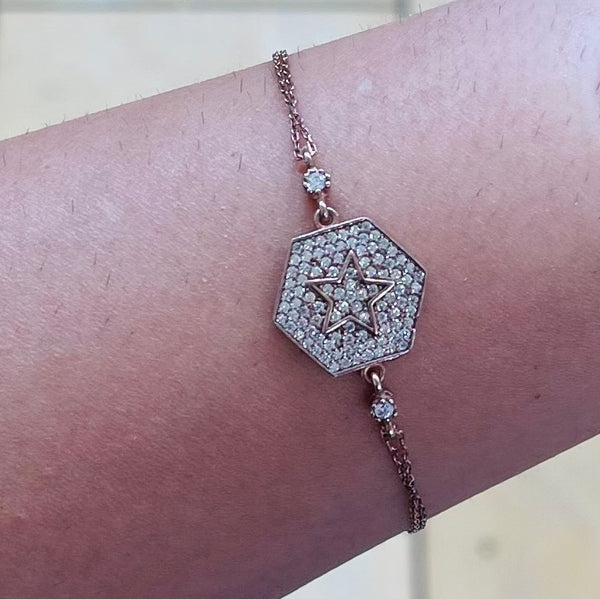 Turquoise Star Sterling Silver Bracelet