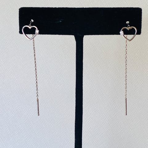 Heart Long Hanging Earrings