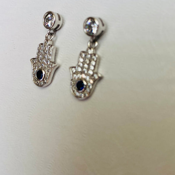 Dangling Hamsa Earrings
