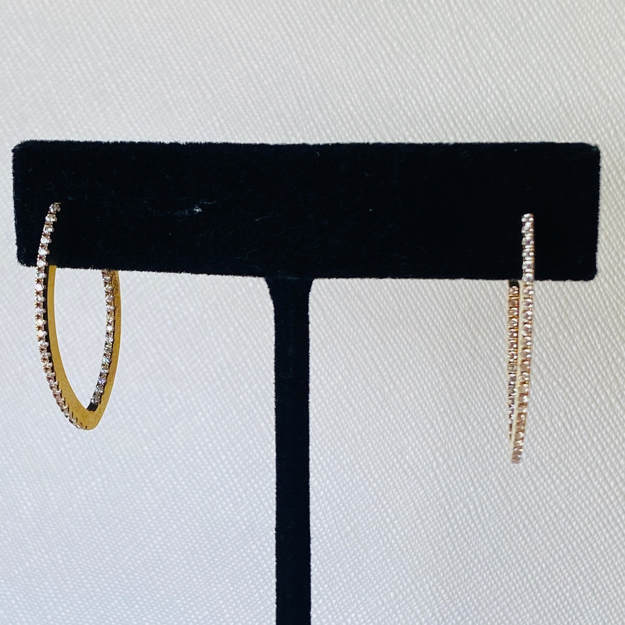Gold Oval Hoops Earrings