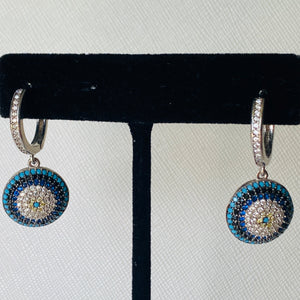 Dangling Evil Eye Earrings