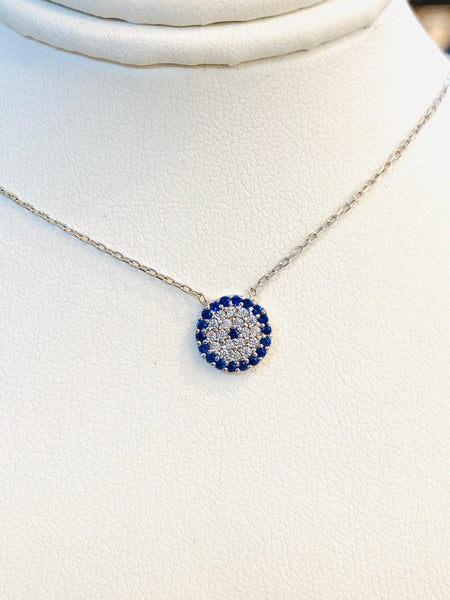 Small Crystal Evil Eye Necklace