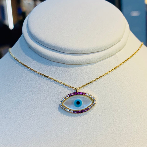 Gold Color Eye Necklace