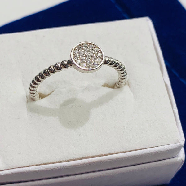 Handmade Tiny Circle   Sterling Silver Silver Color Ring