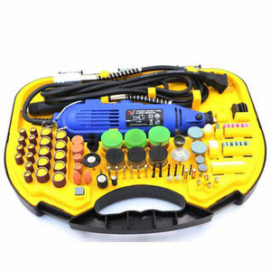 Mini Electric Grinding Set - 211pcs with 3 pin plug adapter.