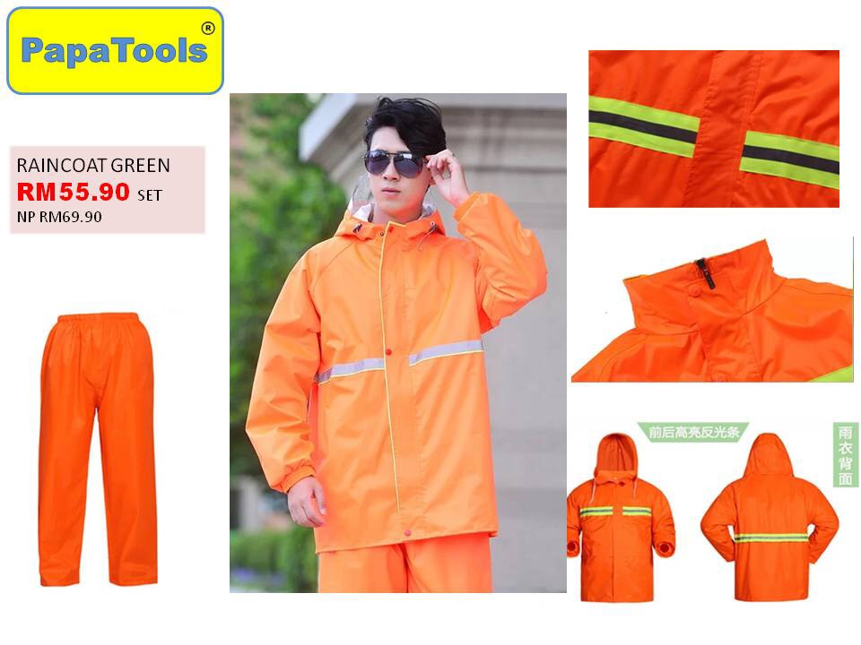 Raincoat pan set reflextive (orange)