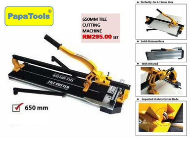 650mm Tile Cutting Machine Single Rail with Laser Line