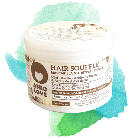 AFRO LOVE | Hair Soufflé Masque (Large) Raw Honey & Sheabutter  & Castor Oil & Tea Tree Oil
