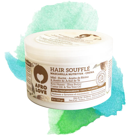AFRO LOVE | Hair Soufflé Masque Raw Honey & Sheabutter  & Castor Oil & Tea Tree Oil