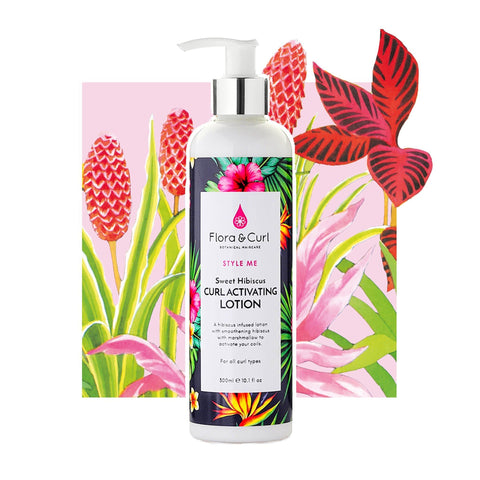 Flora & Curl Sweet Hibiscus Curl Activating Lotion