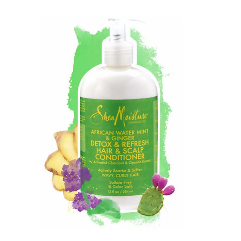 Shea Moisture African Water Mint & Ginger Detox & Refresh Hair & Scalp Conditioner