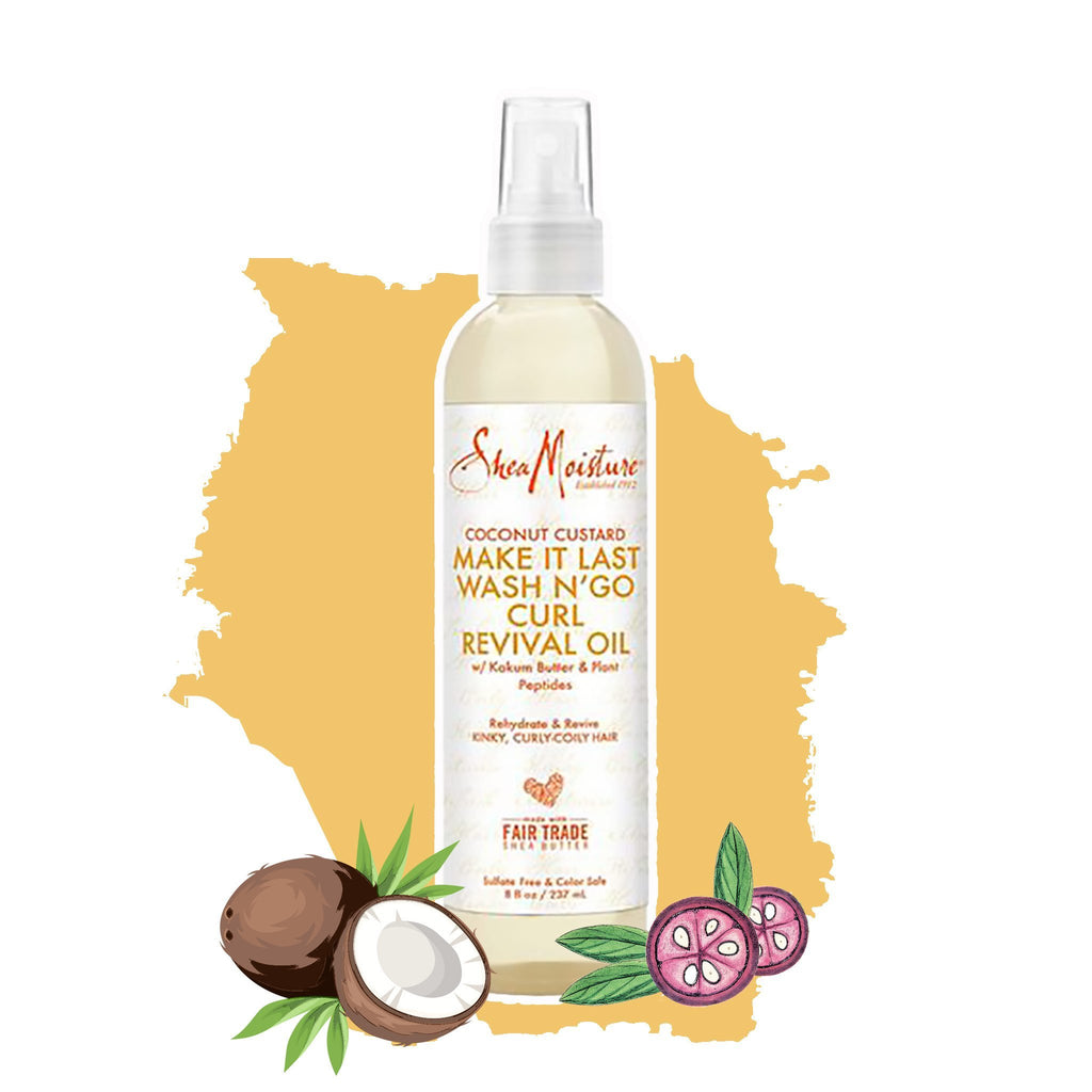 Shea Moisture | Coconut Custard Make It Last Wash N`Go Curl Revival Oil