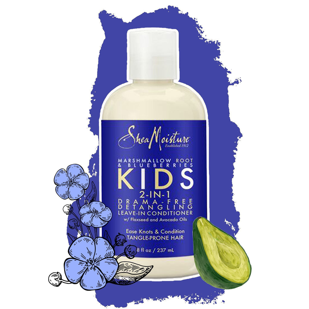 Shea Moisture Kids | 2-in-1 Drama-Free Detangling Leave-in Conditioner Marshmallow Root & Blueberries