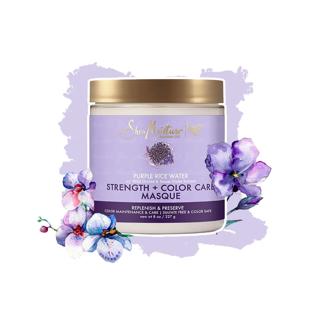 Shea Moisture | Purple Rice Water Strength & Color Care Masque