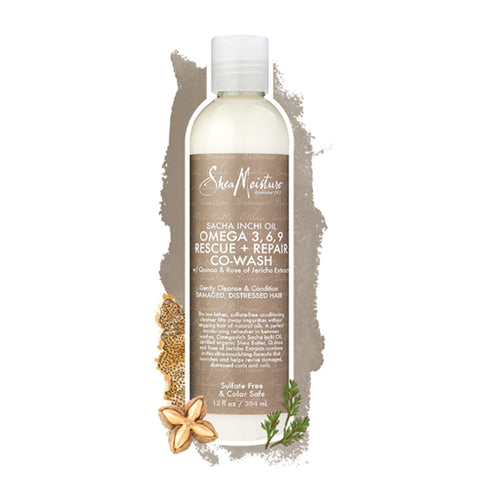 Shea Moisture | Sacha Inchi Oil Omega-3, 6, 9 Rescue + Repair Co-Wash (Large)